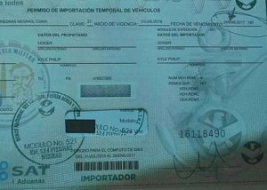 Image of a Temporary import permit