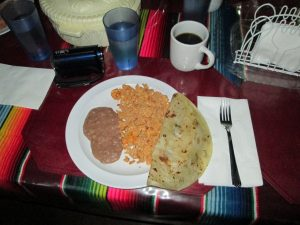 Amazing quesadilla breakfast