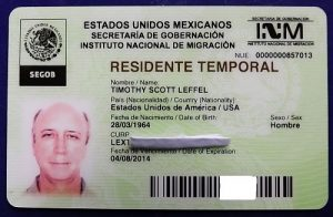 Temporary resident Visa Mexico
